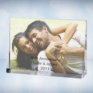 UV Color Imprinted Horizontal Rectangle Photo Plaque