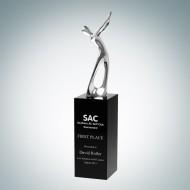 Metal Golfer Champion Trophy